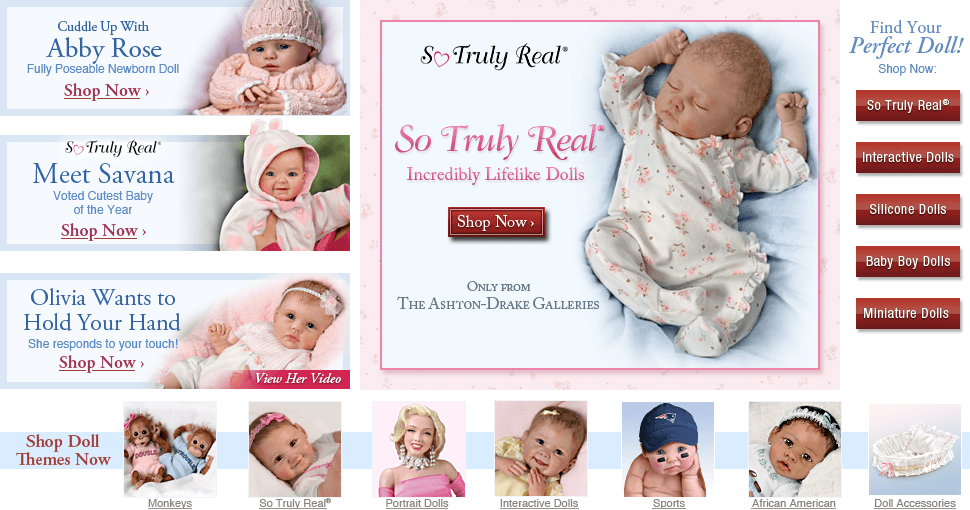 So Truly Real(R) Incredibly Lifelike Dolls - Only from The Ashton-Drake Galleries - Shop Now