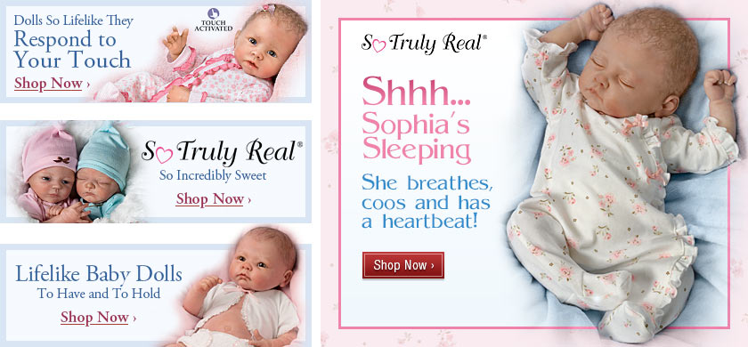 Shhh...Sofia's Sleeping - She breathes, coos and has a heartbeat! Shop Now