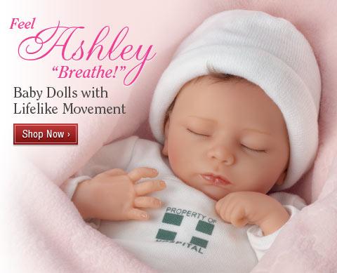 Feel Ashley 'Breathe!' Baby Dolls with Lifelike Movement - Shop Now