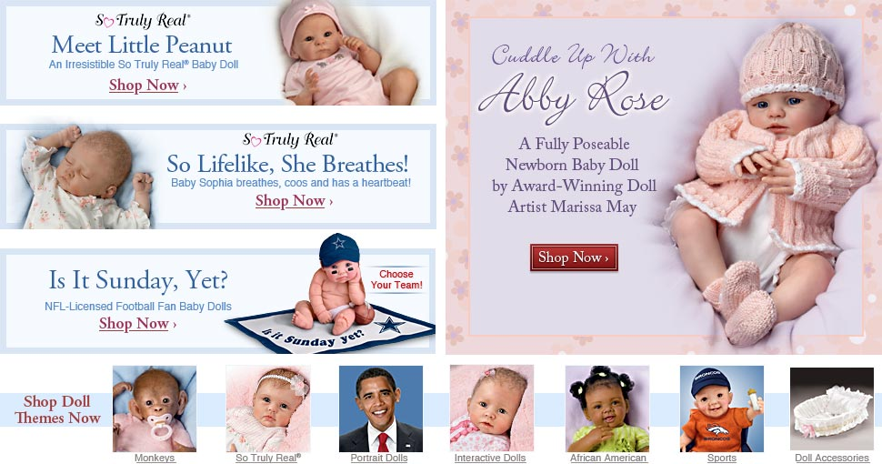 Cuddle Up With Abby Rose - A Fully Poseable Newborn Baby Doll by Award-Winning Doll Artist Marissa May -  Shop Now
