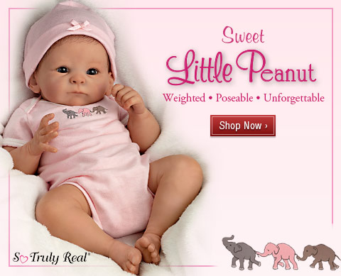 Sweet Little Peanut - Weighted • Poseable • Unforgettable - Shop Now