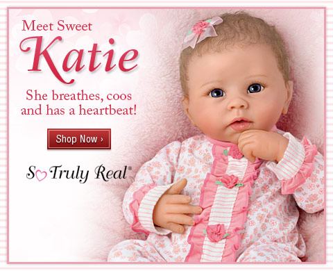 Meet Sweet Katie - She breathes, coos and has a heartbeat! Shop Now