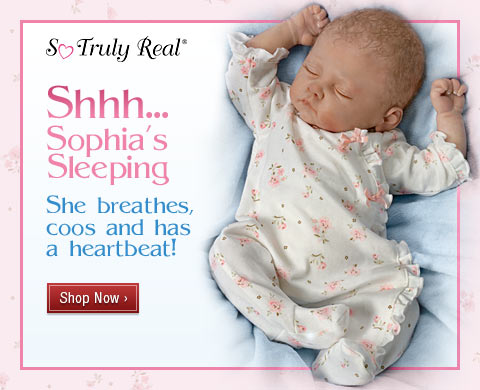 Shhh...Sophia's Sleeping - She Breathes, Coos and has a Heartbeat - Shop Now