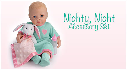 shop the nighty, night accessory set for So Truly Mine baby dolls
