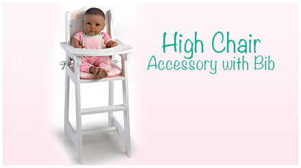 shop the high chair accessory with bib for So Truly Mine baby dolls