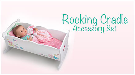 shop the rocking cradle accessory set for So Truly Mine baby dolls