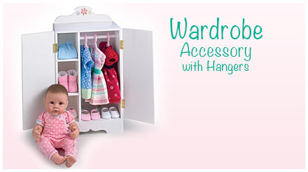 shop the wardrobe accessory with hangers for So Truly Mine baby dolls