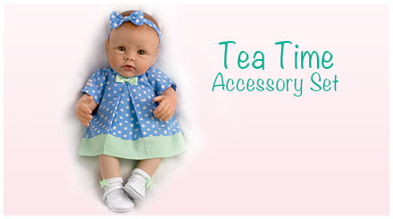 shop the tea time accessory set for So Truly Mine baby dolls
