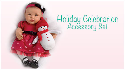 shop the holiday celebration accessory set for So Truly Mine baby dolls