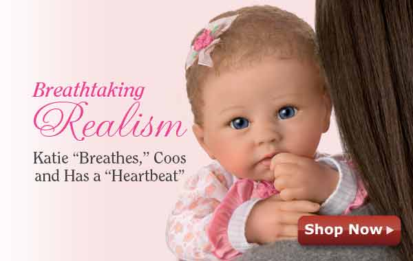 Breathtaking Realism - Katie 'Breathes', Coos and Has a 'Heartbeat' - Shop Now