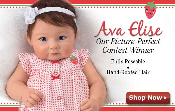Ava Elise Our Picture-Perfect Contest Winner - Fully Poseable - Hand-Rooted Hair Shop Now